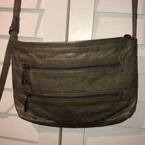 Hobo International gray leather crossbody